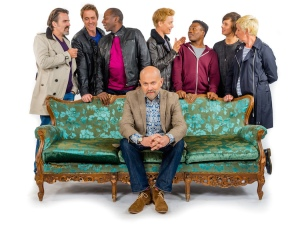 CLIFF (Con O'Neill), DANIEL (James Murray), LANCE (Cyril Nri), HENRY (Vincent Franklin). FREDDIE (Freddie Fox), DEAN (Fisayo Akinade), ADAM (Cel Spellman), CLEO (Julie Hesmondhalgh)